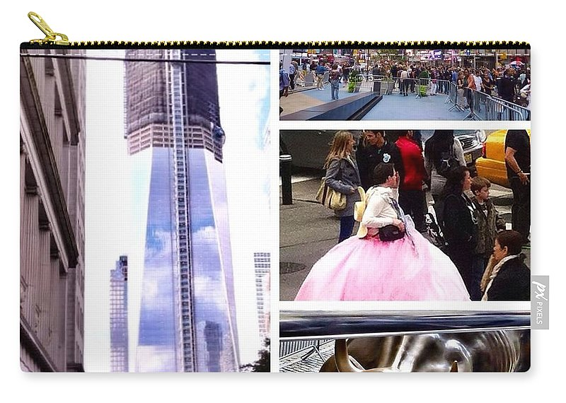 New York Nyc Collage Carry-all Pouch featuring the photograph New York Nyc Collage by Susan Garren