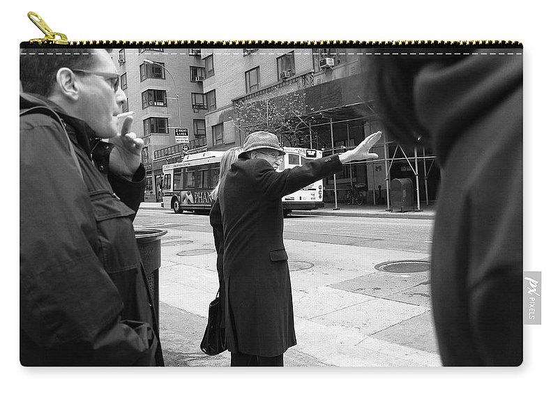 Architecture Carry-all Pouch featuring the photograph New York Street Photography 16 by Frank Romeo