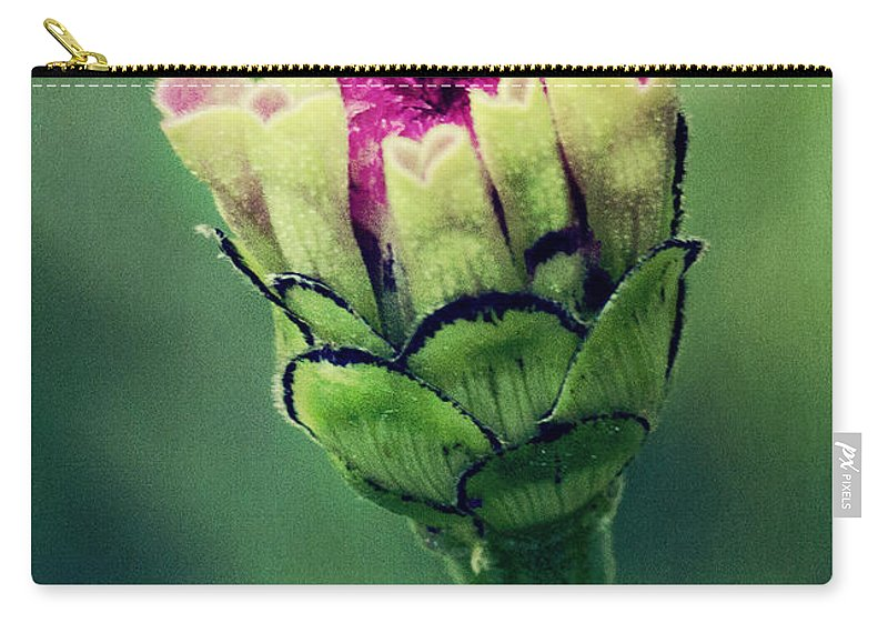 Flower Carry-all Pouch featuring the photograph New Zinnia by Pam Holdsworth