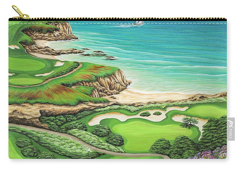 Ocean Carry-all Pouch featuring the painting Newport Coast by Jane Girardot