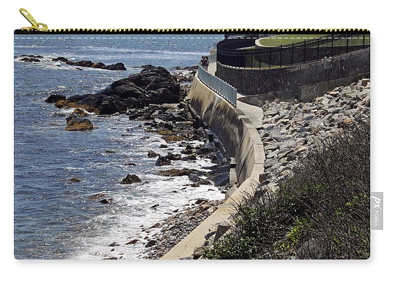Cliff Walk Carry-all Pouch featuring the photograph Newport's Cliff Walk View by Christiane Schulze Art And Photography