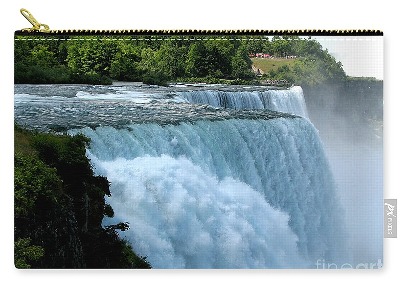 Niagara Falls Carry-all Pouch featuring the photograph Niagara Falls American Side by Rose Santuci-Sofranko