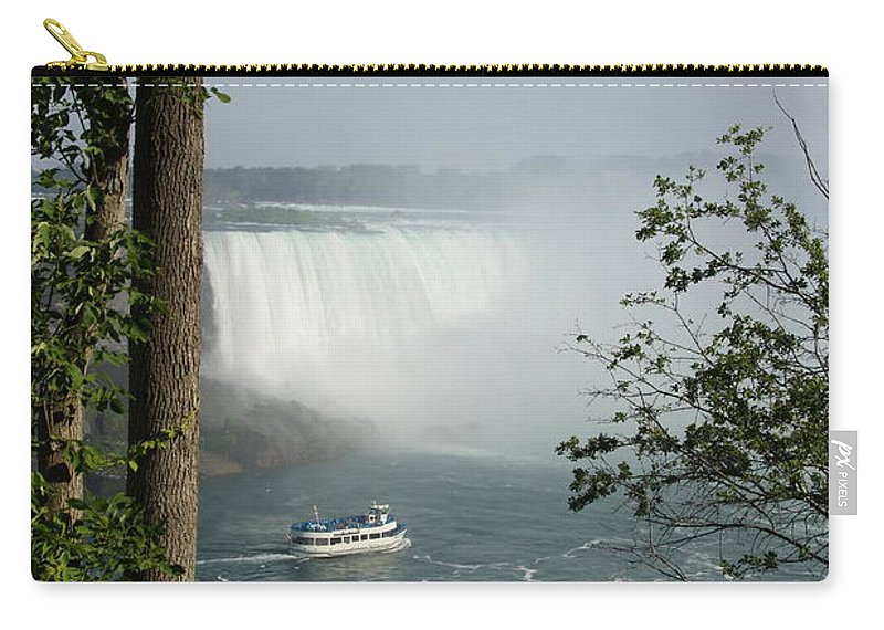 Niagara Fall Carry-all Pouch featuring the photograph Niagara Falls - Canada by Christiane Schulze Art And Photography
