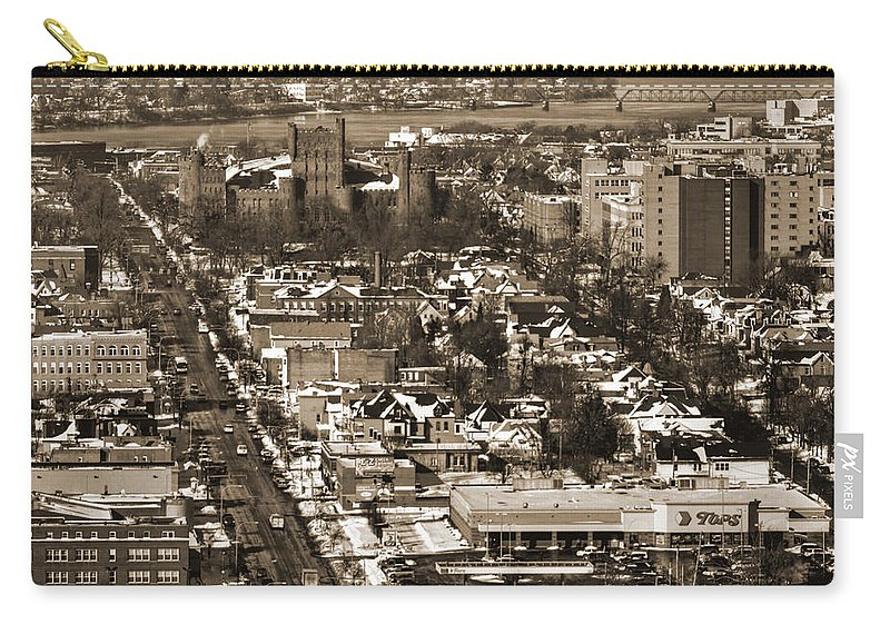 Winter Carry-all Pouch featuring the photograph Niagara Street Winter 2013 by Michael Frank Jr