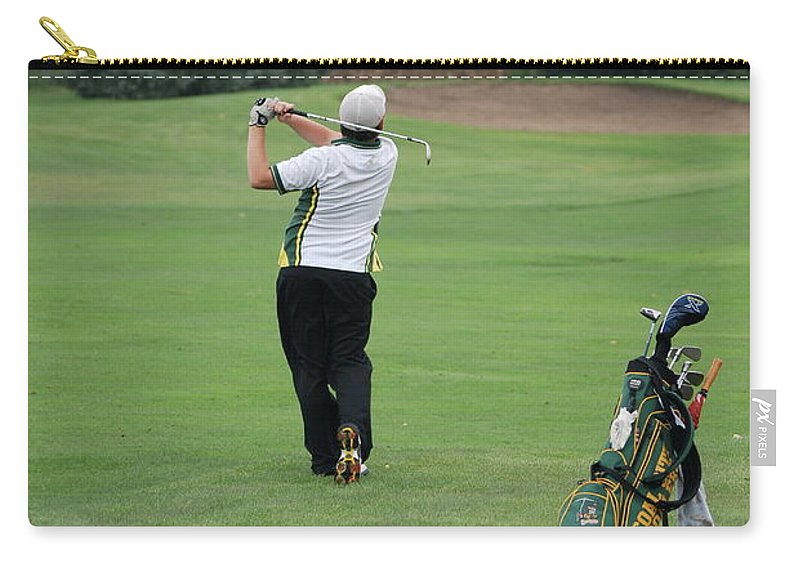 Golf Carry-all Pouch featuring the photograph Nice Swing by Thomas Woolworth