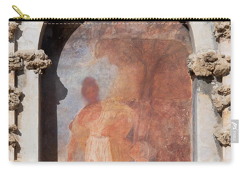 Seville Carry-all Pouch featuring the photograph Niche Fresco In Real Alcazar Of Seville by Artur Bogacki