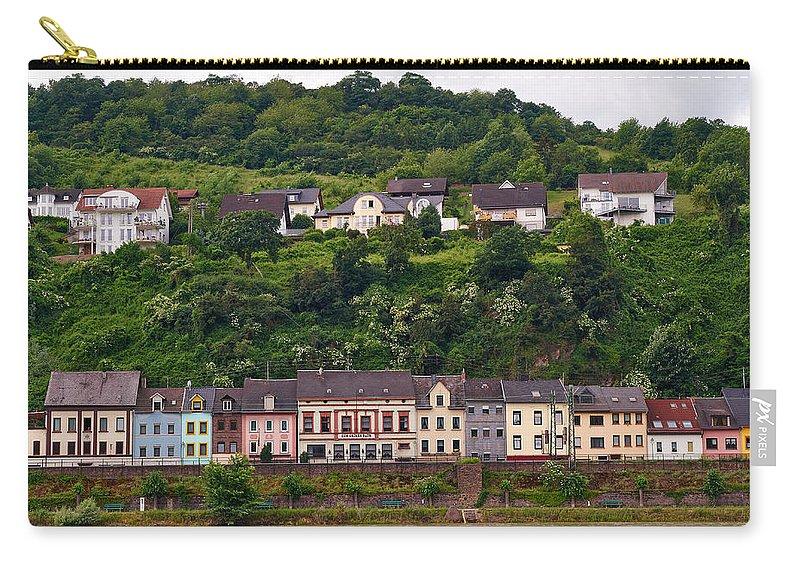 Alankomaat Carry-all Pouch featuring the photograph Niederheimsbach Am Rhein by Jouko Lehto
