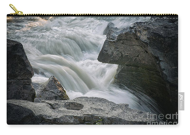 Waterfalls Carry-all Pouch featuring the photograph Nigel Creek Cascades by Vivian Christopher