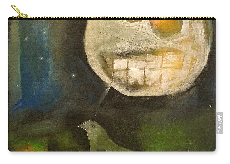 Moon Carry-all Pouch featuring the painting Night Bird Harvest Moon by Tim Nyberg