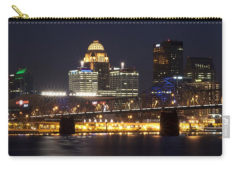 Water Carry-all Pouch featuring the photograph Night Descends Over Louisville City by Deborah Klubertanz