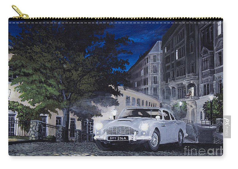 Aston Martin Carry-all Pouch featuring the painting Night Drive by Jeremy Reed