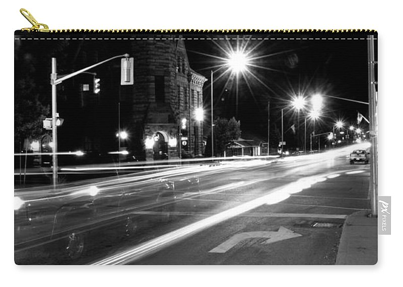City Scenes Carry-all Pouch featuring the photograph Night Life by Cheryl Baxter
