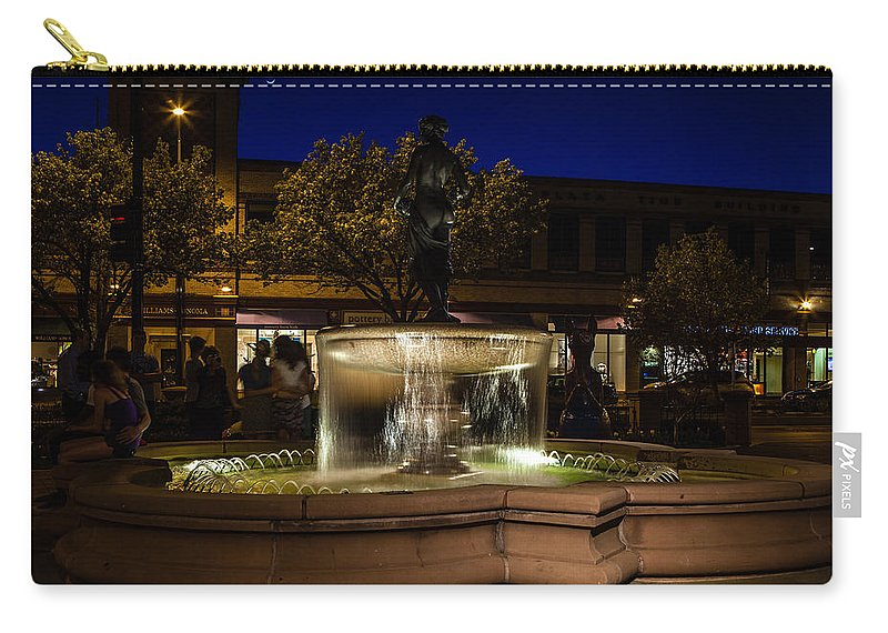 Slow Speed Carry-all Pouch featuring the photograph Night Life by Sennie Pierson