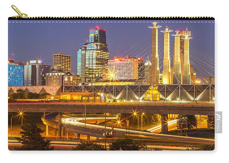 Kansas City Carry-all Pouch featuring the photograph Night Lights by Ken Kobe