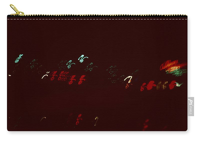 Night Lights Carry-all Pouch featuring the photograph Night Lights Orange by David Hohmann