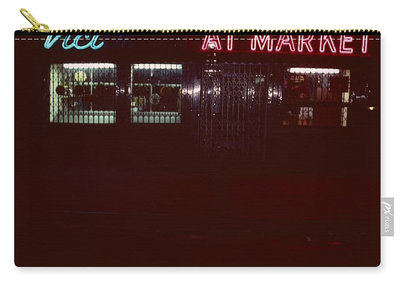 Night Lights Carry-all Pouch featuring the photograph Night Lights Vict At Market by David Hohmann