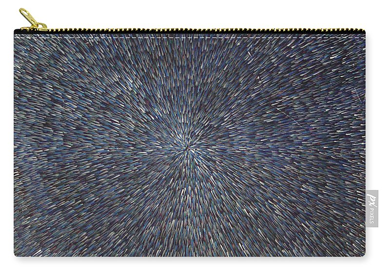 Abstract Carry-all Pouch featuring the painting Night Radiation by Dean Triolo