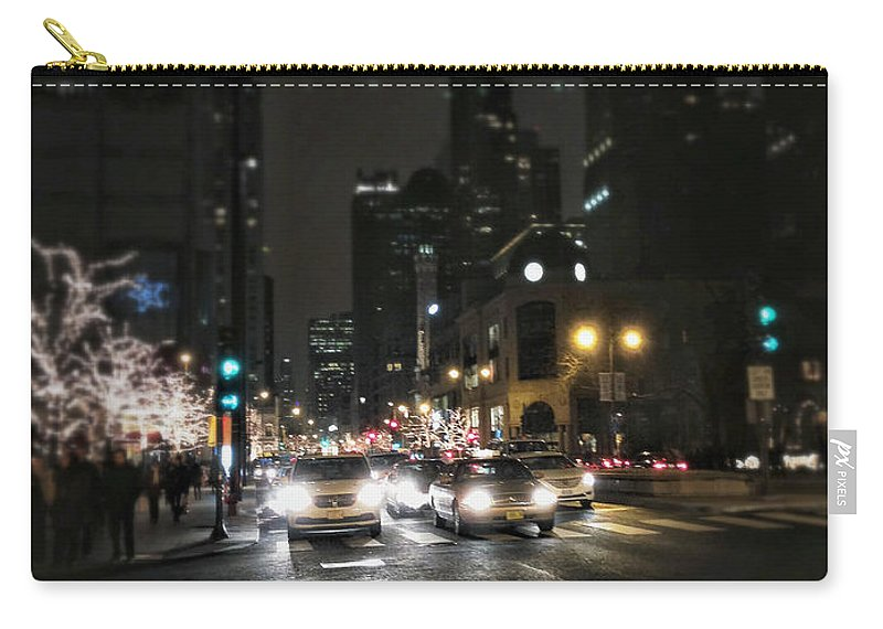 Light Carry-all Pouch featuring the photograph Night Traffic by Margie Hurwich