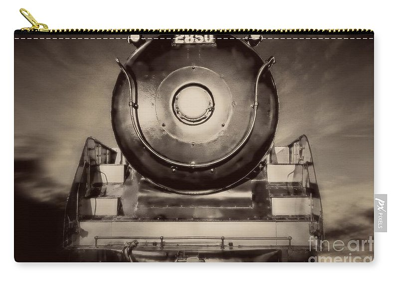 Train Carry-all Pouch featuring the photograph Night Train by Edward Fielding