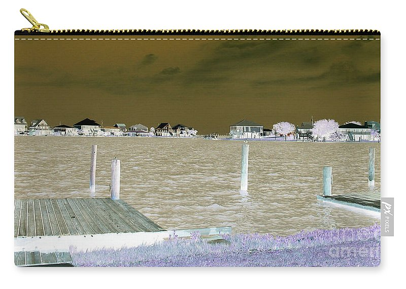 Lafitte Bay Carry-all Pouch featuring the photograph Night View Of Lafitte Bay Dauphin Island Alabama by Marian Bell