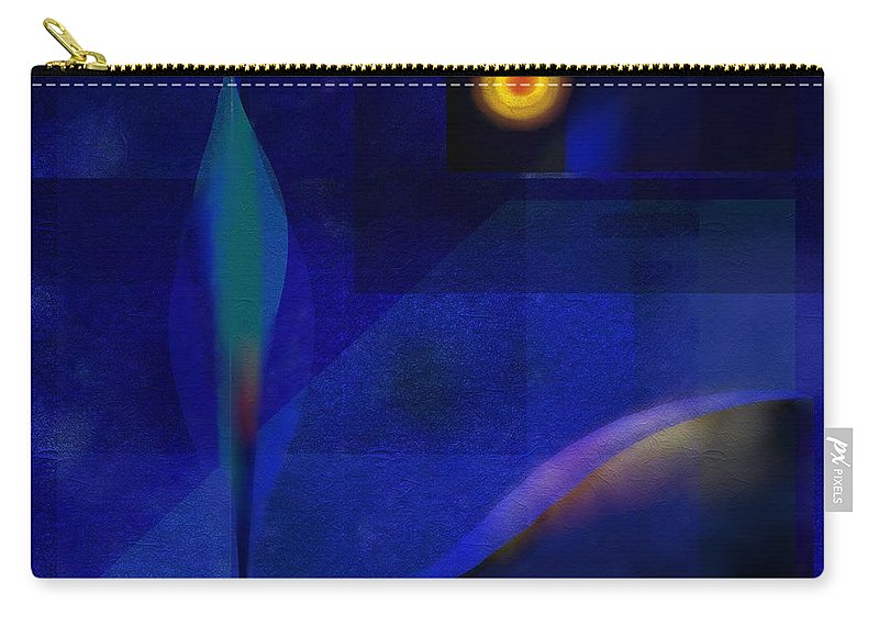 Carry-all Pouch featuring the painting Night by Wolfgang Schweizer