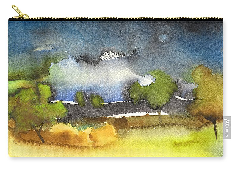 Gouache Carry-all Pouch featuring the painting Nightfall 39 by Miki De Goodaboom