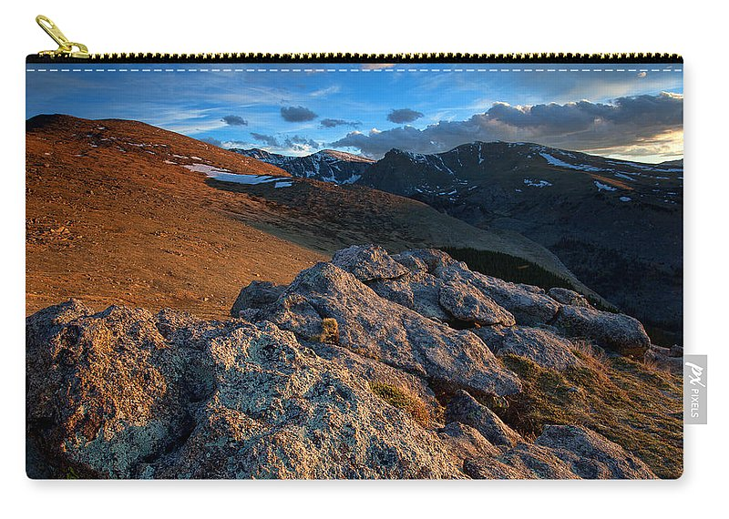 Sunset Photograph Carry-all Pouch featuring the photograph Nightfall by Jim Garrison