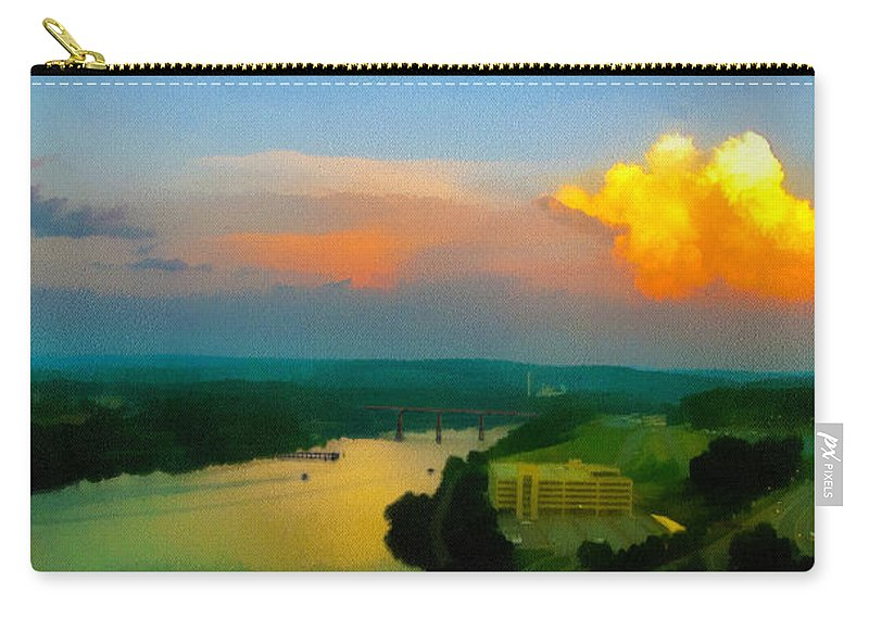 Photo Carry-all Pouch featuring the digital art Nightfall by William Sargent