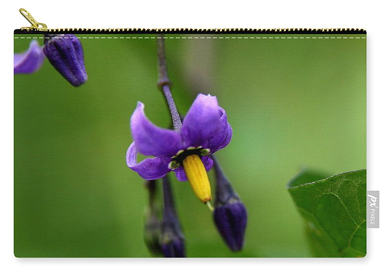 Floral Carry-all Pouch featuring the photograph Nightshade by Neal Eslinger