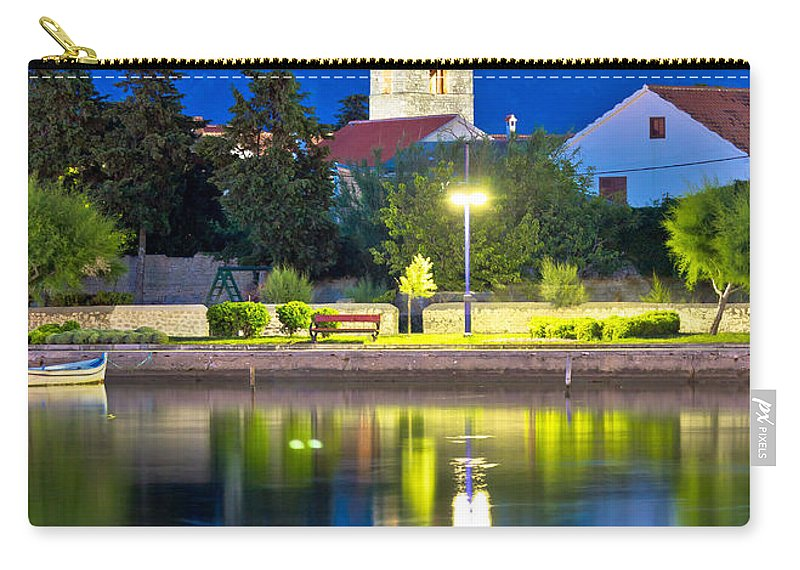 Calm Carry-all Pouch featuring the photograph Nin Coast Evening Reflections View by Brch Photography