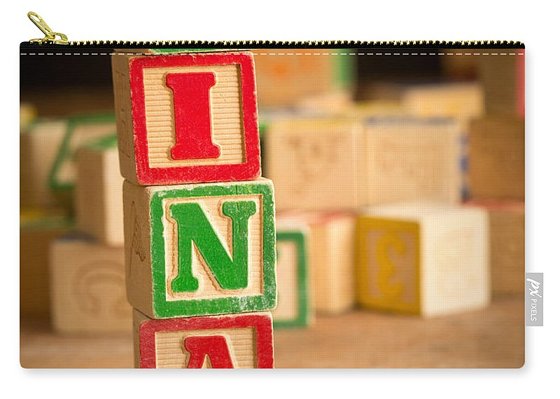 Abcs Carry-all Pouch featuring the photograph Nina - Alphabet Blocks by Edward Fielding