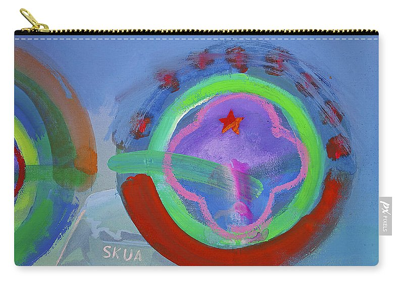Texas Art Carry-all Pouch featuring the painting Nine Eleven Image by Charles Stuart