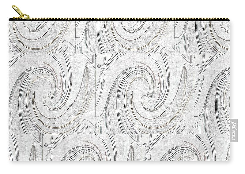 Abstract Carry-all Pouch featuring the digital art Nine Times by Helena Tiainen