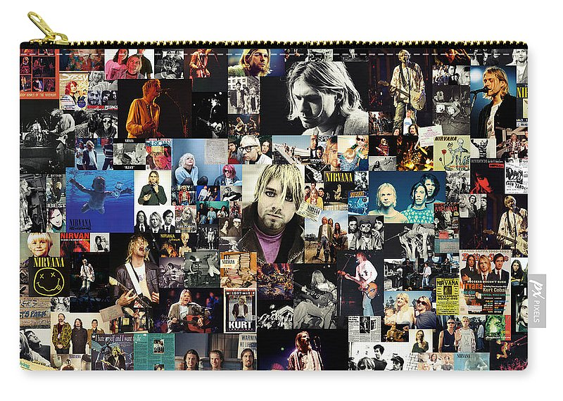 Nirvana Carry-all Pouch featuring the digital art Nirvana collage by Zapista OU