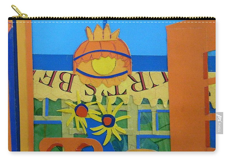 Sunflowers Carry-all Pouch featuring the mixed media Nj Sunflowers by Debra Bretton Robinson
