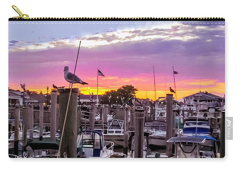 Sunset Carry-all Pouch featuring the photograph Nj's Sunset by Zina Stromberg