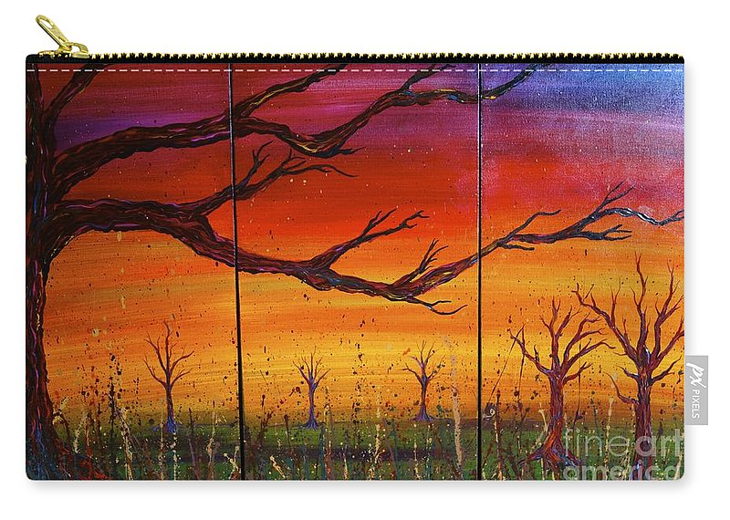 Tree Carry-all Pouch featuring the painting No. #1228 by Jacqueline Athmann