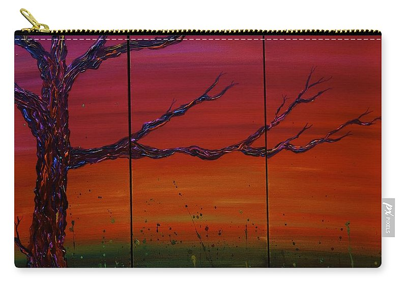 Tree Carry-all Pouch featuring the painting No. #1229 by Jacqueline Athmann