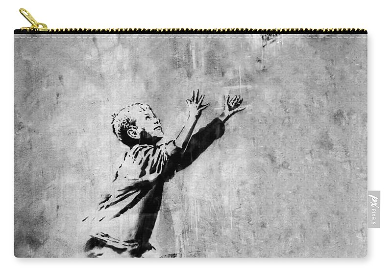 London Carry-all Pouch featuring the photograph No Ball Games by A Rey