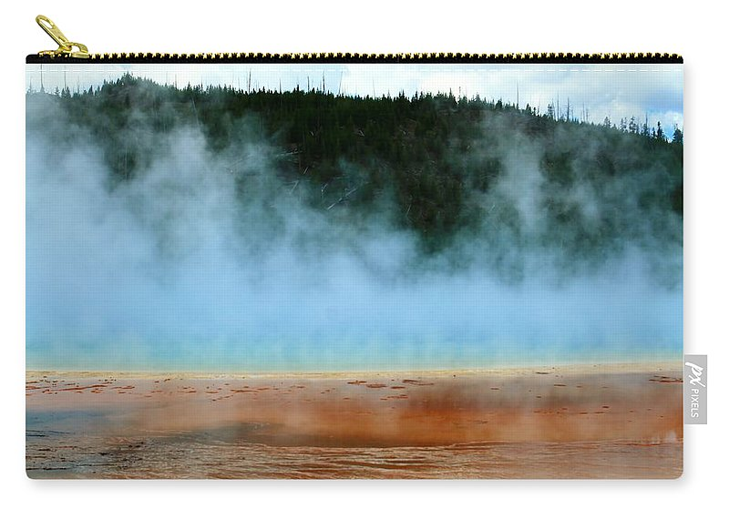 Yellowstone National Park Carry-all Pouch featuring the photograph No Diving by Catie Canetti