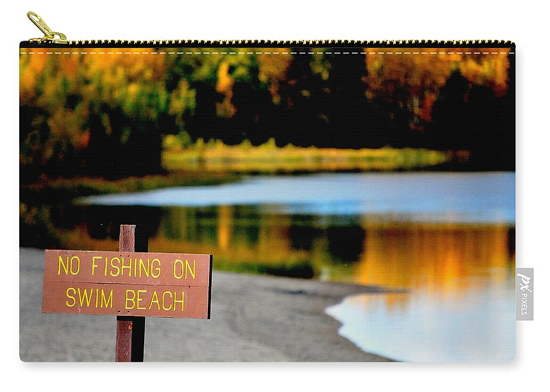 Lake Carry-all Pouch featuring the photograph No Fishing I by Kathy Sampson