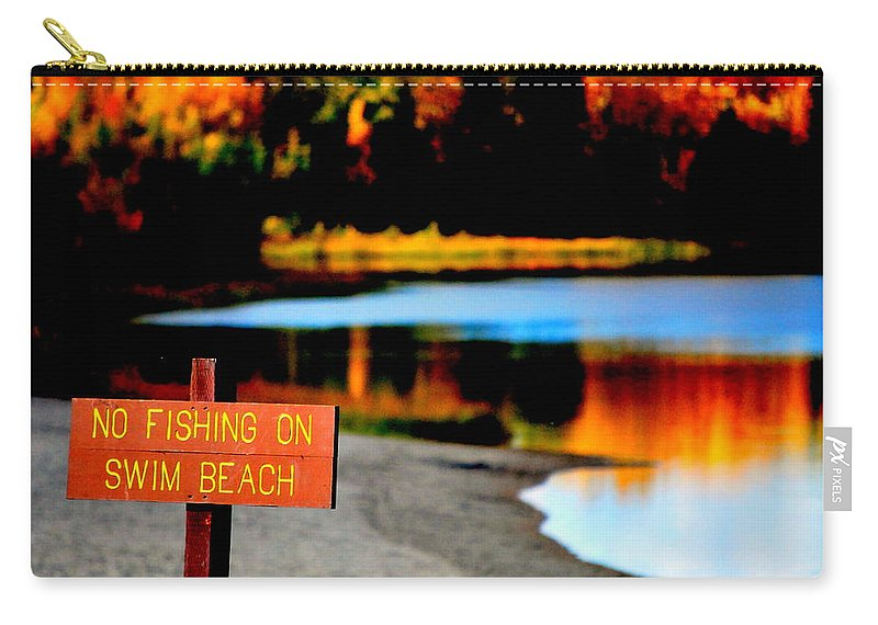 Lake Carry-all Pouch featuring the photograph No Fishing IIi by Kathy Sampson