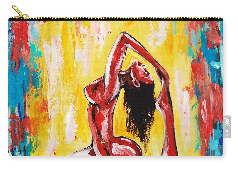 Artbyria Carry-all Pouch featuring the photograph No Flex Zone by Artist RiA