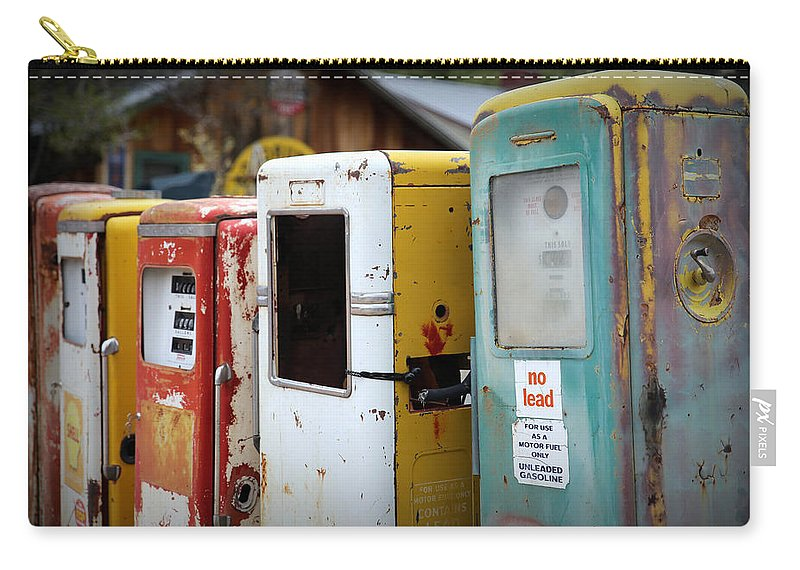 Gas Pumps Carry-all Pouch featuring the photograph No Lead by Lynn Sprowl