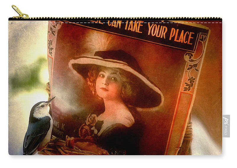 Nuthatch Carry-all Pouch featuring the photograph No One Else... by Arthur Miller