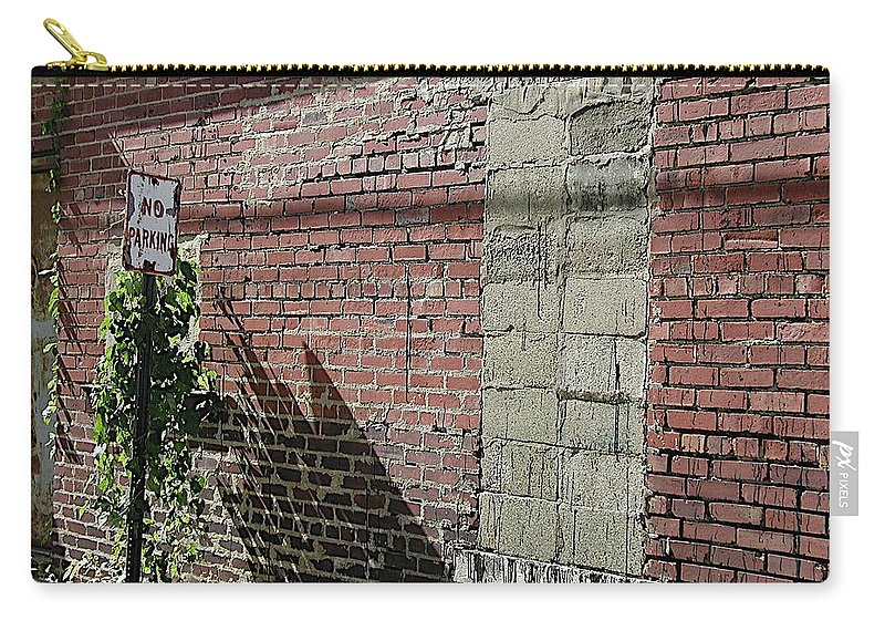Bricked Up Window Carry-all Pouch featuring the photograph No Parking by Joseph Yarbrough