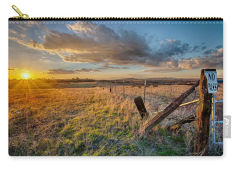 California Carry-all Pouch featuring the photograph No Pass by Peter Tellone