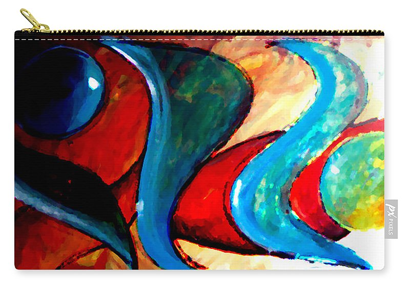 Abstract Carry-all Pouch featuring the painting No Rules by Marcello Cicchini