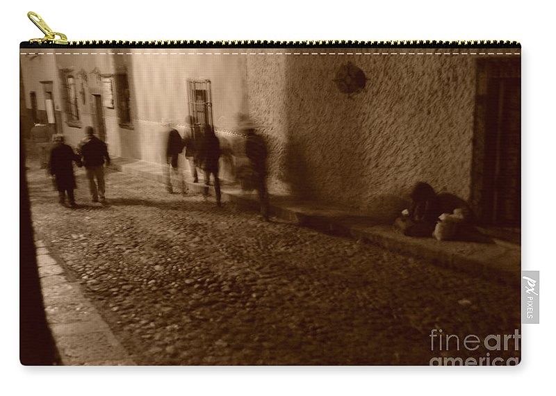 Revellers Carry-all Pouch featuring the photograph No Sale by Brian Boyle