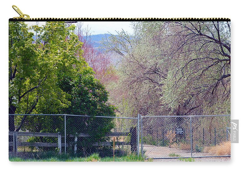 Fence Carry-all Pouch featuring the photograph No Trespassing by Brent Dolliver